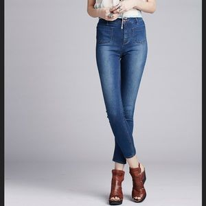 Free People high waist skinny jeans